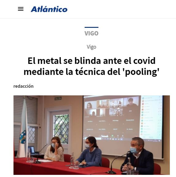 Captura-noticia_El metal se blinda ante el covid mediante la técnica del 'pooling'-Atlantico